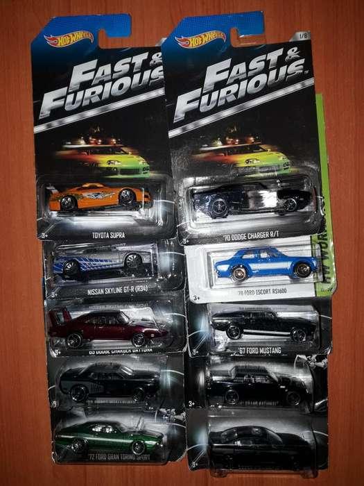 Rapido Y Furioso Hot Wheels 1:64 Charger Rt Supra Set 10 autos