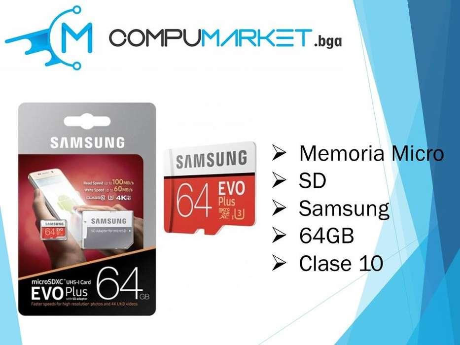 Memoria Micro Sd Samsung 64gb Evo Plus Clase 10 nuevo y facturado
