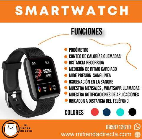 SmartWatch o Reloj Inteligente Best Seller en Amazon con podómetro, sensor cardíaco, presión, oxigenación y más!
