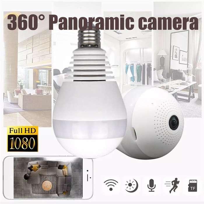 Cámara Ip Panoramica. Wifi En Foco 360con Microfono Y <strong>parlante</strong>