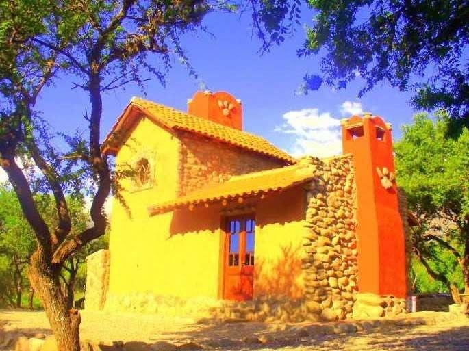 ps76 - Cabaña para 2 a 5 personas con pileta y cochera en Villa De Merlo