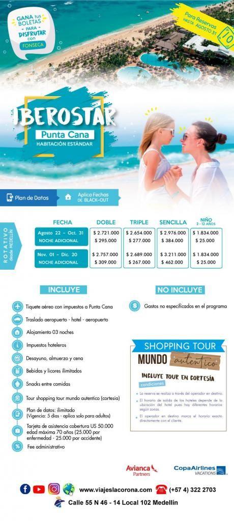 Viaje como un Rey a Punta Cana HOTEL IBEROSTAR  con Viajes la Corona