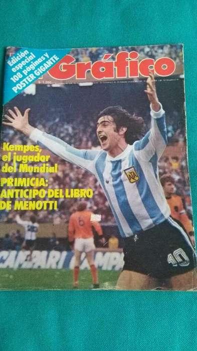 Revista El Gráfico 3065 Argentina Campeón Mundial 78 Kempes