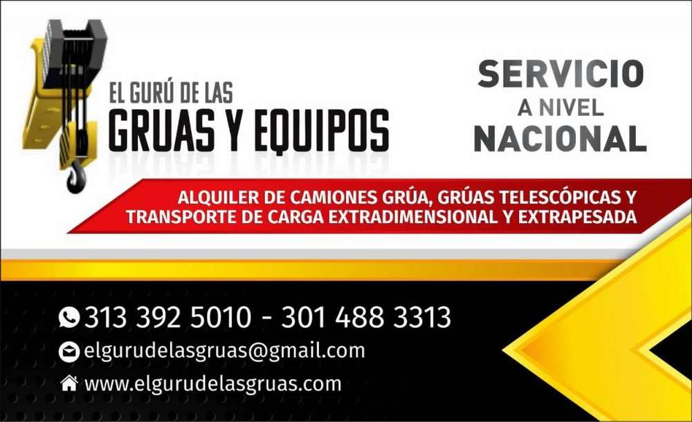 EL GURU DE LAS GRÚAS SERVICIO DE ALQUILER DE EQUIPOS DE CONSTRUCCIÓN