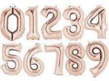 Globos Metalizados Números Gigantes Oro Rosa 81 Cm