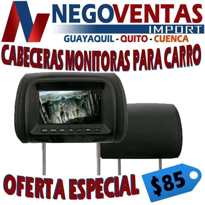 CABECERAS MONITORES 7 PULGADAS PARA CARRO
