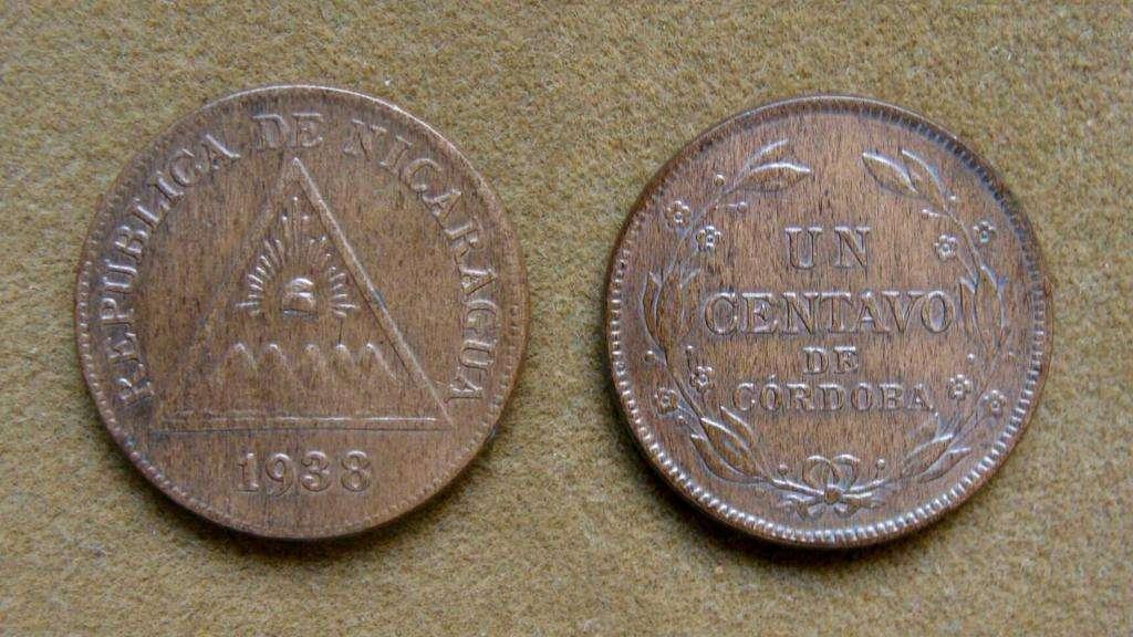 Moneda de 1 centavo Nicaragua 1938