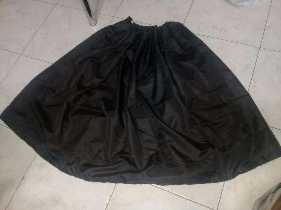 Pollera Lisa Marrom Oscuro 70 Cms