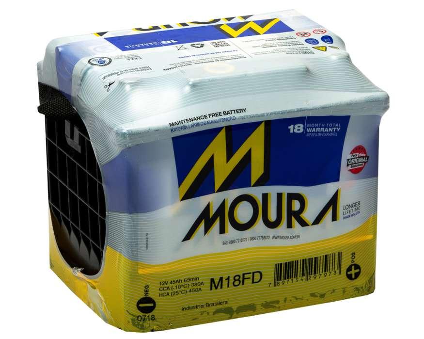 Batería Auto Moura M18fd 12x45 <strong>ford</strong> Ka, Eco Sport