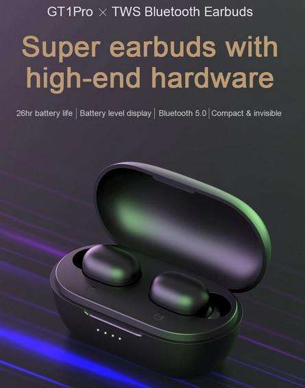Audifonos Haylou Gt1 Pro Negros Bluetooth Nuevo Originales Sellados