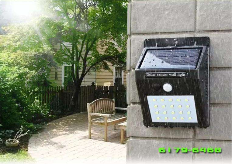 Lampara Led con Panel Solar Sensor Movimiento