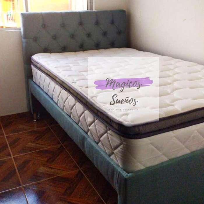 OFERTA ! BASE CAMA DUPLEX son dos bases en una sola con Colchón de cama auxiliar y ENVIÓ incluido