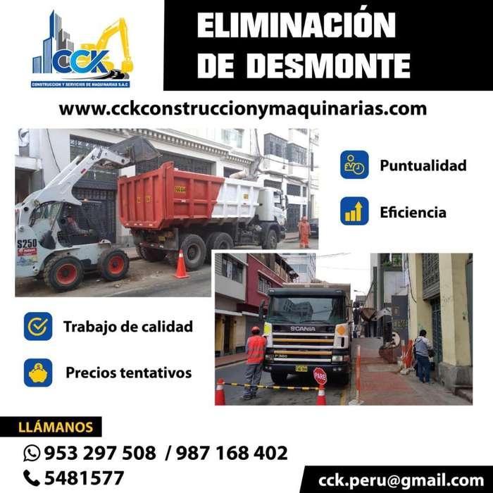 ELIMINACION DE DESMONTE (VOLQUETE MINICARGADOR)