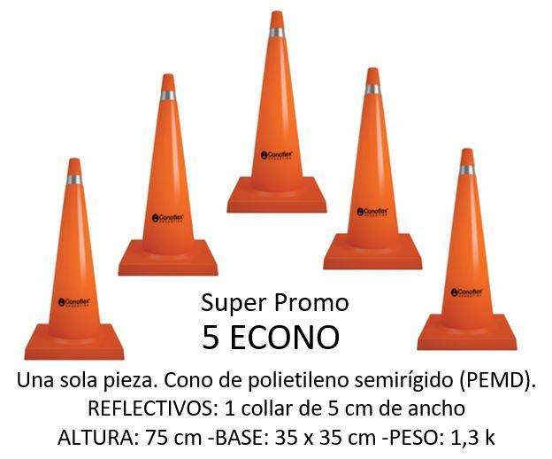 SUPER PROMO 5 CONOS - ECONO CONOFLEX