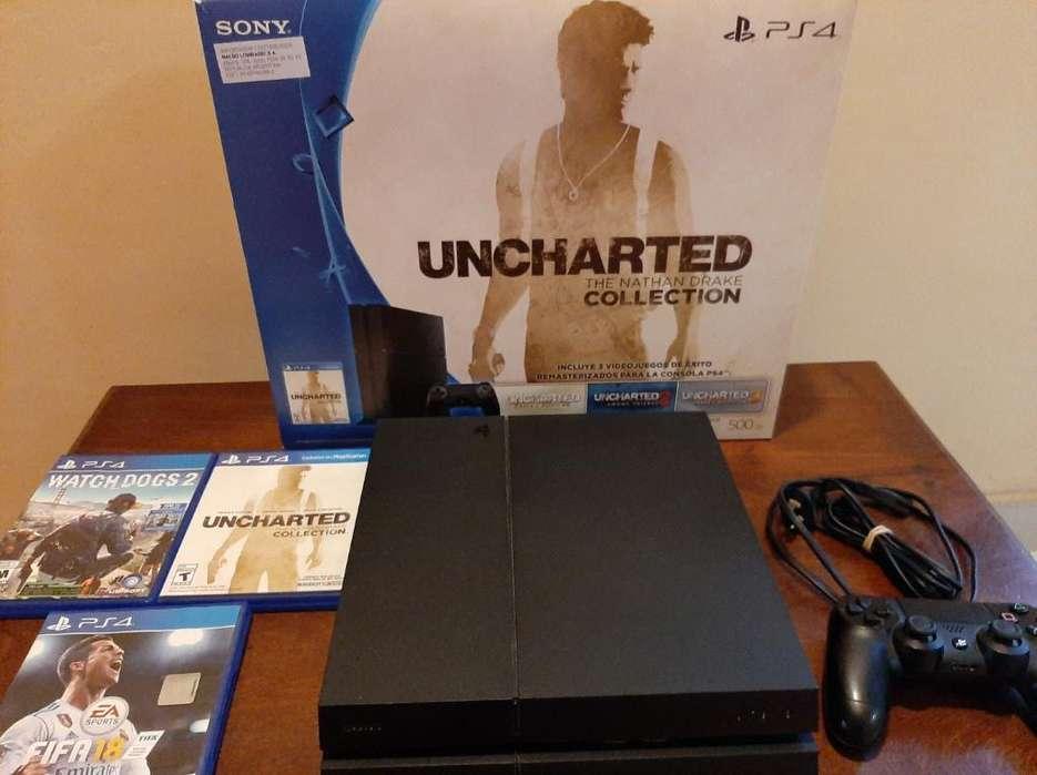 Vendo Playstation 4 de 500gb con Su Caja