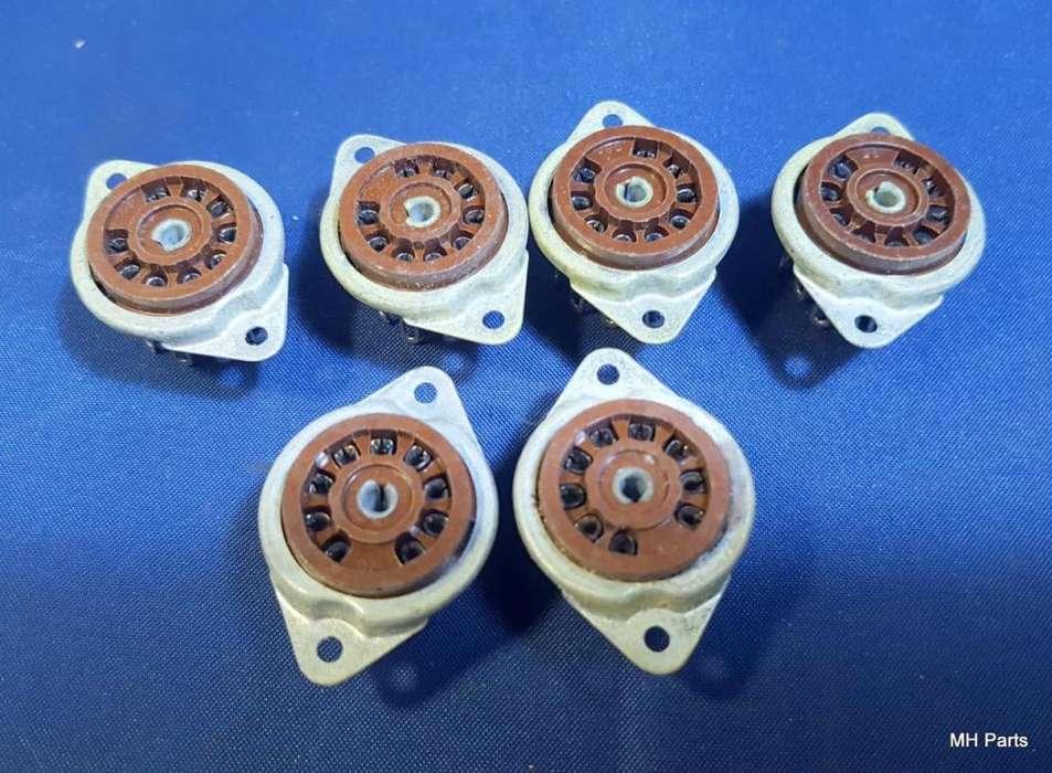 Base de baquelita Tubo Socket 8 pin Original USA NOS