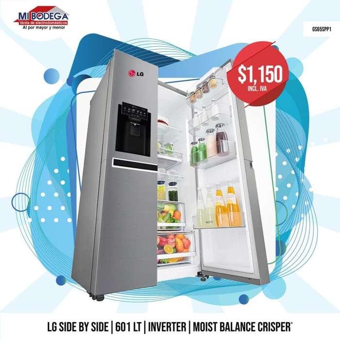 <strong>refrigerador</strong>a LG GS65SPP1 20' Pies Cromada 601LT