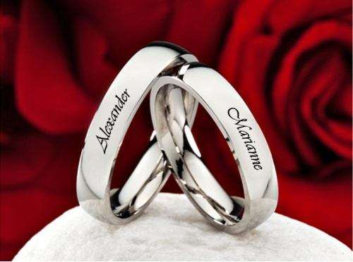 Anillos De Compromiso, alianzas matrimoniales, Plata Pura 950 Gratis Grabado