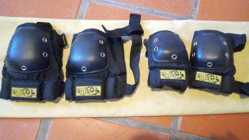 Rodilleras y coderas protecciones para skate o rollers