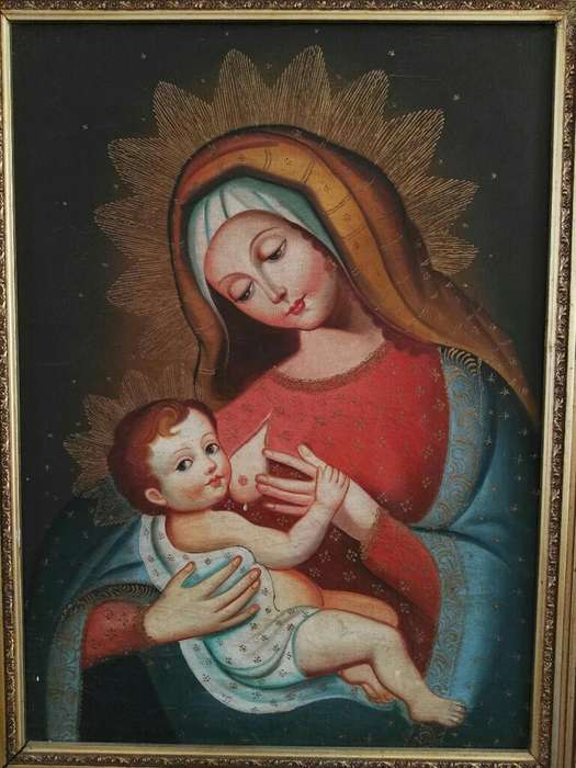 Oleo Virgen de La Leche
