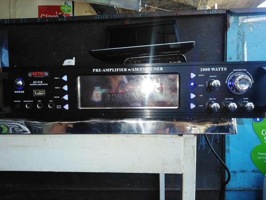 AMPLIFICADOR BETEL USB TUNER 2000W , EQUIPO SONIDO