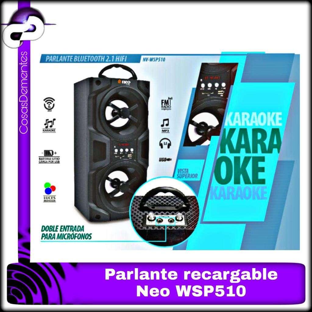 PARLANTE PORTÁTIL NEO BLUETOOTH USB SD KARAOKE WSP510