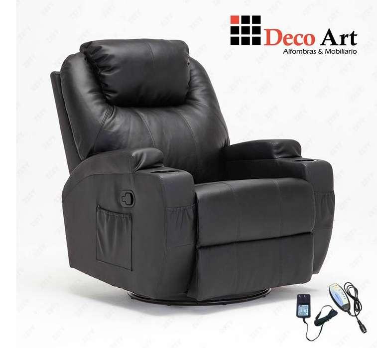 <strong>sofa</strong> RECLINABLE CALEFACCION MASAJES GIRATORIO MECEDORA CONTROL REMOTO