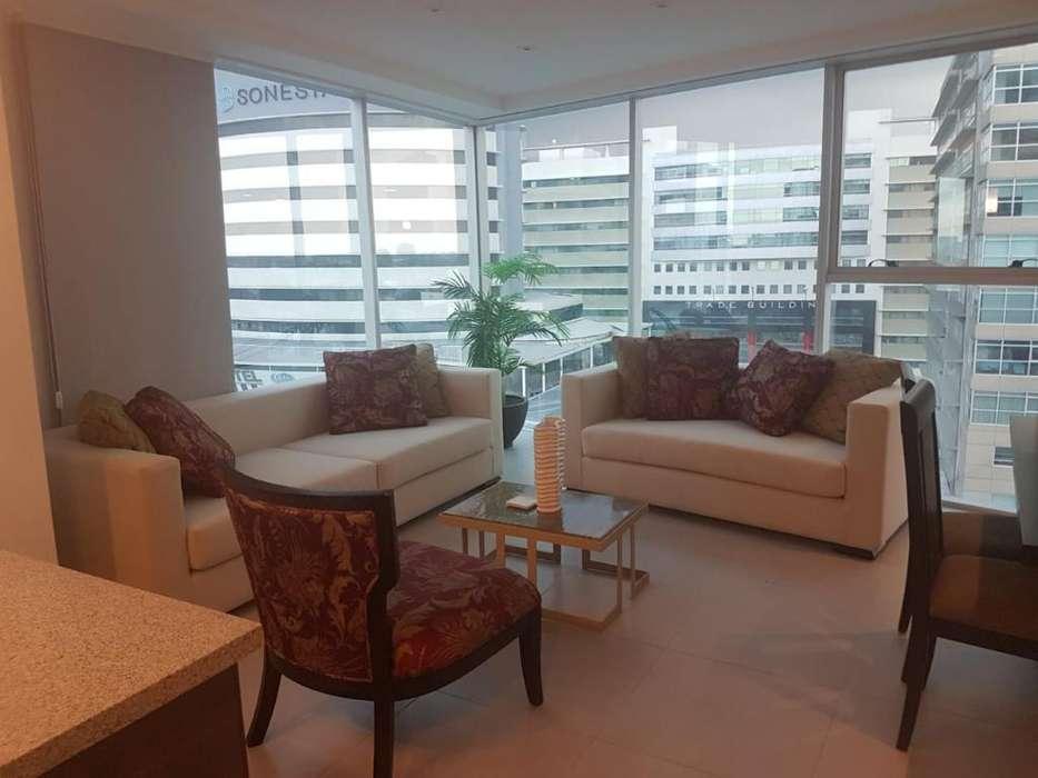 Alquiler Departamento amoblado 2 dormitorios, Edificio Quo, Norte, Guayaquil