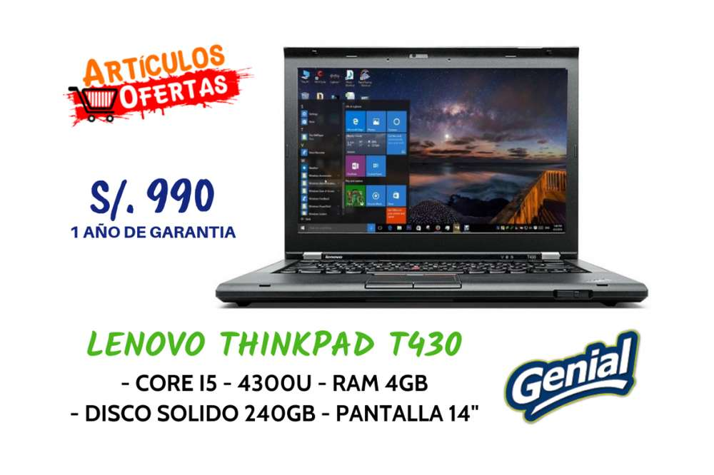 Laptops Americanas X Mayor y Menor, Core I3, I5, I7, Marcas HP - DELL - LENOVO, Desde S/. 990