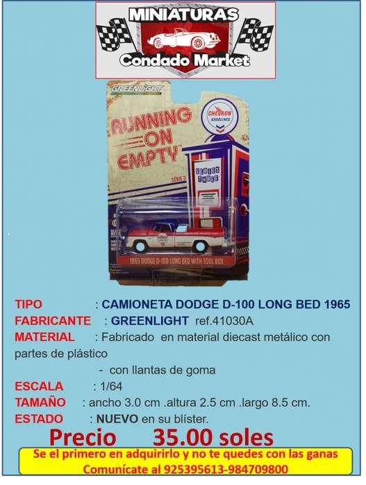 CAMIONETA DODGE D-100 LONG BED 1965