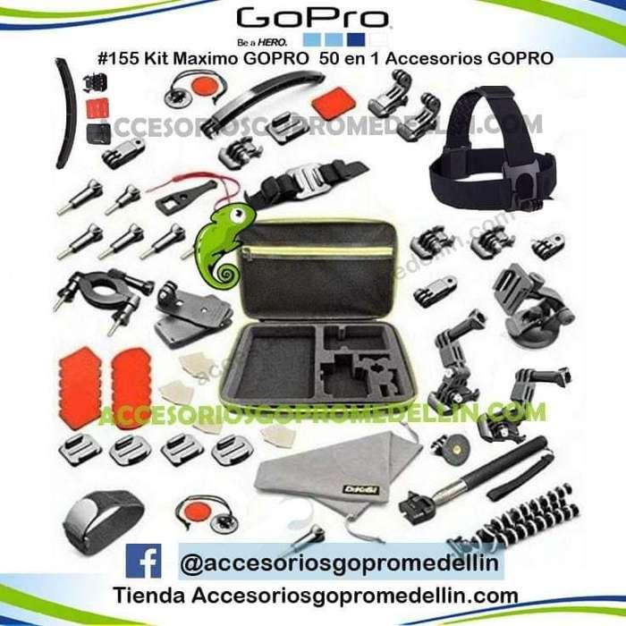 Kit <strong>accesorios</strong> Gopro 50 en 1 profesional