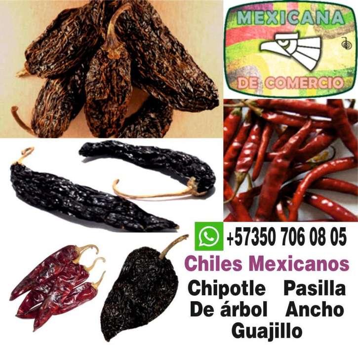 CHILE CHIPOTLE GUAJILLO PASILLA ANCHO ARBOL SECO MEXICANO