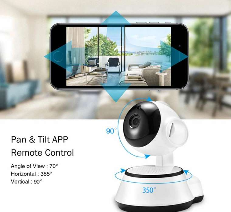 Camara Wifi Ip inalambrica HD Grabacion Smart Home
