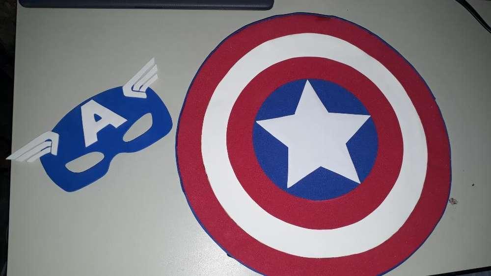 Máscara Y Escudo de Capitán América