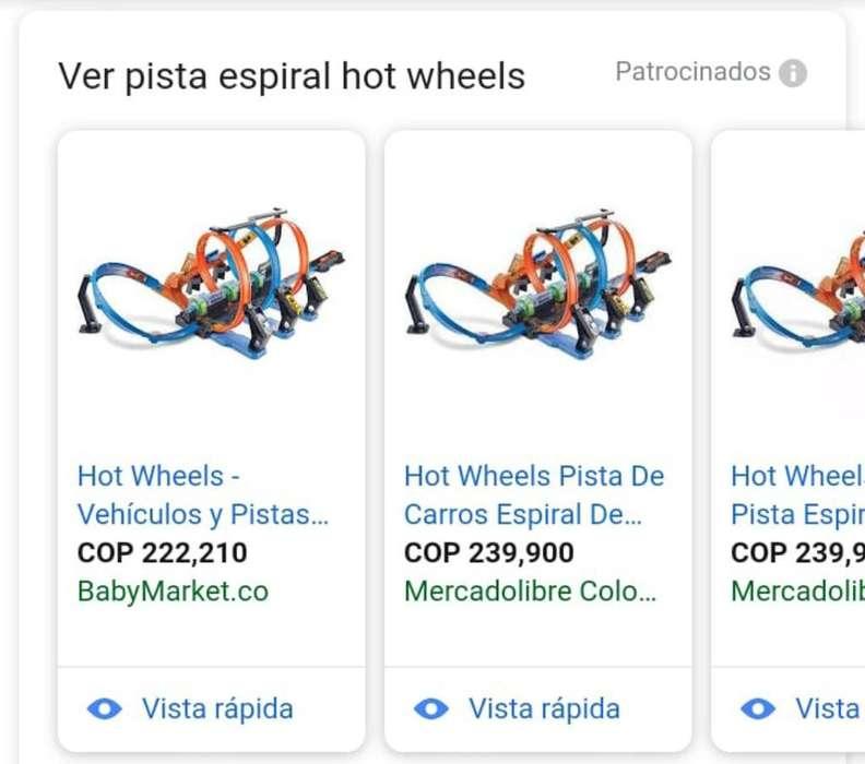 Pista Espiral Hot Wheels