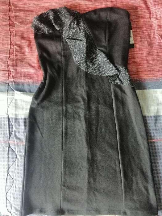 Vestido Nuevo Talla S Hermoso Color Negr
