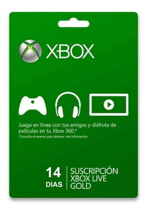 Xbox Live 14 Dias para Xbox 360 7mil Pes