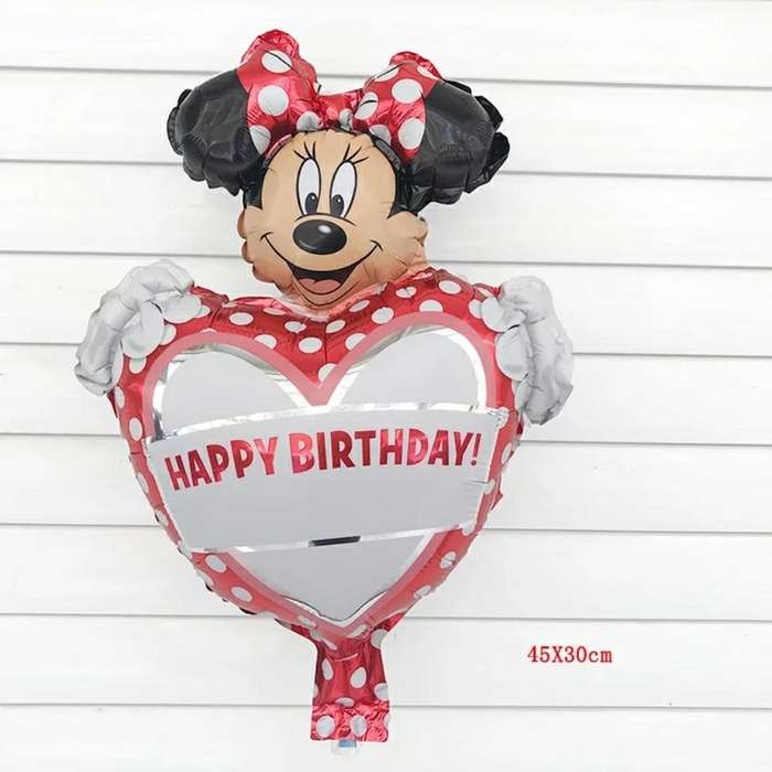 Globo Metálico Minnie Mouse Cumpleaños