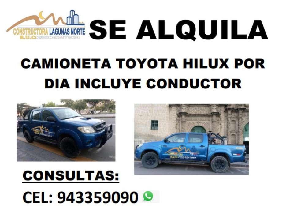 Alquiler Camionetas Hilux 943359090