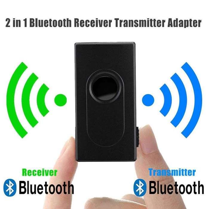 Bluetooth 4.2 Transmisor - Receptor de Audio Estereo Recargable