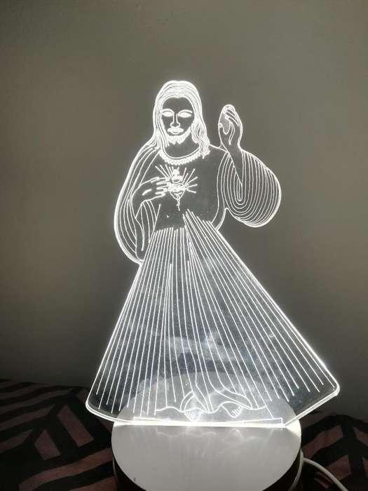 Lámpara Led 3d Sagrado Corazón de Jesús