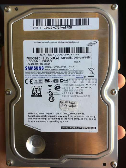 Disco Duro 250GB Samsung