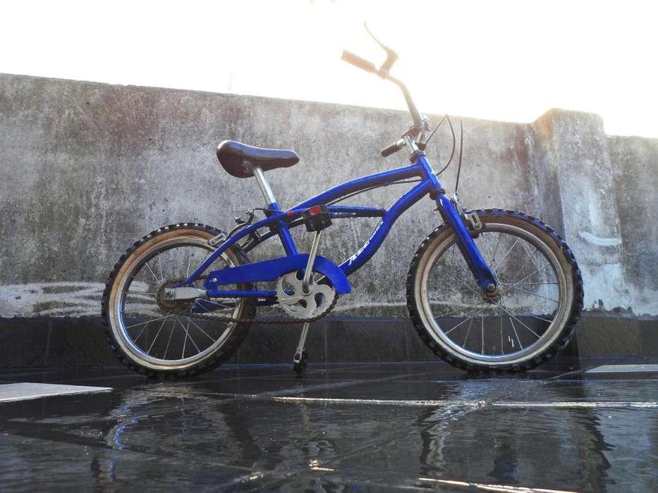 Bicicleta azul rodado 16