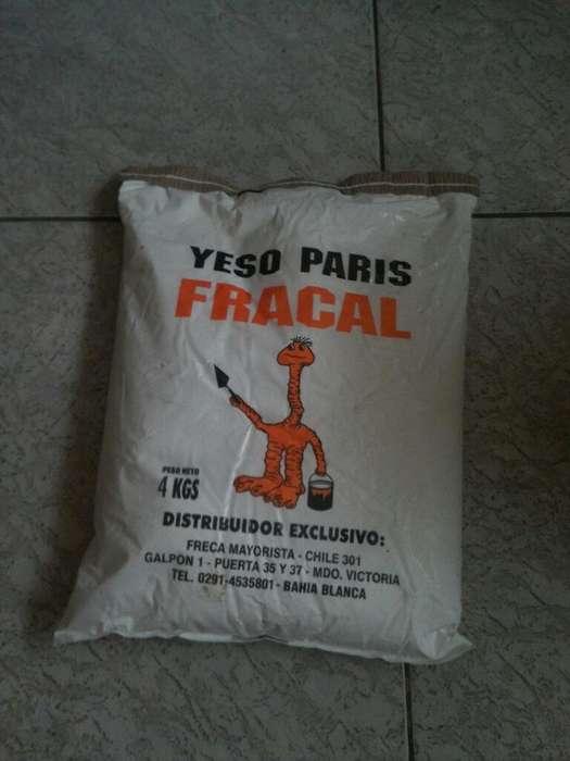 Yeso Paris 4kg Fracal Bolsa Cerrada