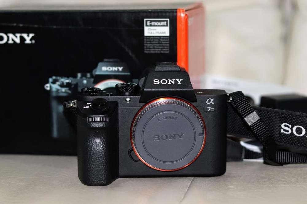 Cámara profesional mirrorless Sony Alpha A7ii Solo cuerpo