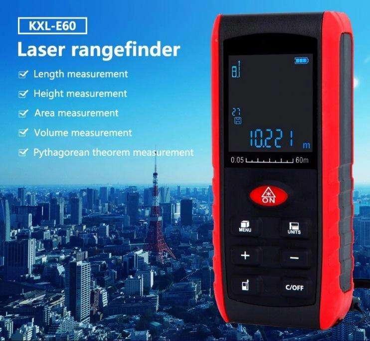 Práctico láser 60 metros para medición exacta