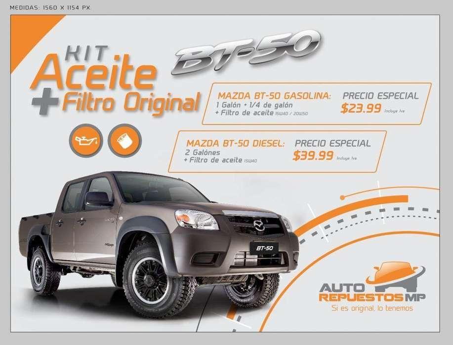 Kit de aceite más filtro original Mazda bt50 AUTOREPUESTOS MP QUITO