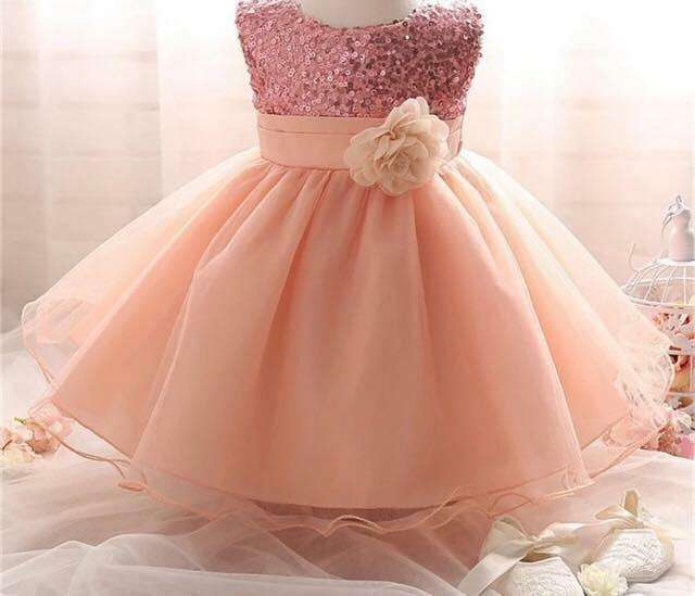 Vestido Rosado Lentejuelas