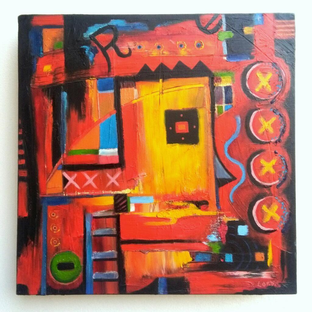 Pintura Abstracta Al Oleo.