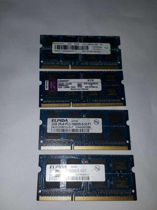 Memoria Portatil PC3-10600S 2GB